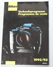 Nikon Verkaufs-Programm 1992/93  255 Seiten alles was produziert wurde