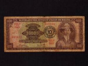 Brazil/Brasil:P-190b,10000 Mil Cruzeiros,1967 * Alberto Santos-Dumont * F * NR !