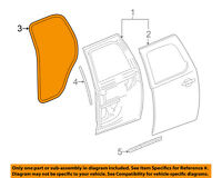GM OEM Rear Door-Rear Seal Left 23455369
