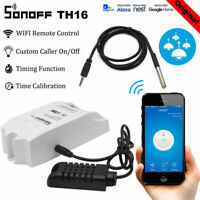 TH10A/16A Smart Home Switch WiFi Wireless Temperature&Humidity Thermostat Module