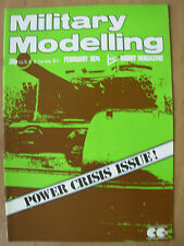 MILITARY MODELLING MAGAZINE FEBRUARY 1974 PLASTIC FIGURE CONVERSIONS