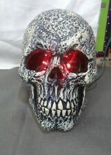 7 inch Custom made plastic skull with red LED lights Halloween decor party