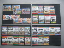 BRITISH COLONIES, topic train railway MNH, 428 pairs + set of 4 = 860 stamps