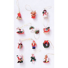 Dollhouse Miniature 1:12 Scale Christmas Resin Ornaments 12 Pieces