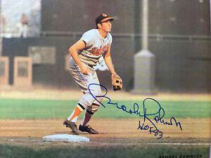 "Brooks Robinson Signed Arena Stadium ""B"" Card 11x14 Cardboard Baltimore Orioles"