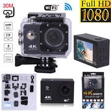 "2.4G 12MP 4K 1080P 2"" WIFI Sports Action Camera Video Remote HD Bike Waterproof"