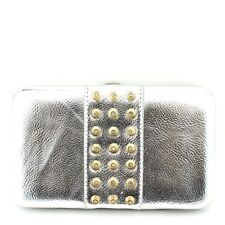 New Fashion Studded Design Hard Case Clutch Wallet  Evening Party Purse Bag #353