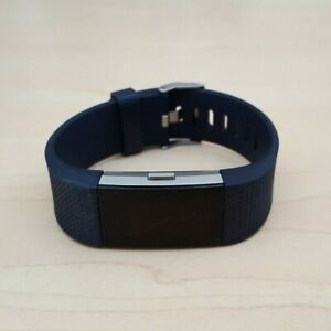 Fitbit Charge 2 Heart Rate Fitness Activity Tracker Dark Blue Wristband Large