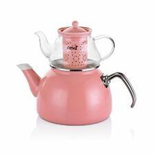 Turkish Double TeaPot Set / Sweet Glass Teapot Set Pink N2445
