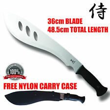 NEW BUSH MACHETE  HUNTING CAMPING SENIOR KNIFE BLADE SILVER + SHEATH