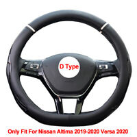 D Type Car Auto Steering Wheel Cover For Nissan Altima 2019 2020 Versa 2020