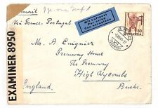 BF209 1941 WW2 SWITZERLAND Arch GB High Wycombe Airmail  Cover Censor