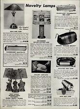 1951 PAPER AD Hula Girl Lamp Dancer Walt Disney Bambi Dumbo Dopey Roy Rogers