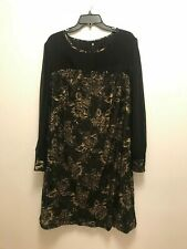 Women's Dress Size 18W - Black with Gold floral detail - New