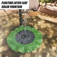 Solar Power Bird Bath Fountain Water Floating Small Pond Garden Fountain Panel