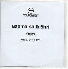 (AL597) Badmarsh & Shri, Signs - DJ CD
