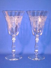 BRYCE CRYSTAL PATTERN 854-4 PAIR WATER GOBLETS 8""