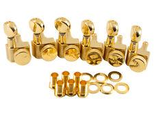 Kluson Locking Tuners Fender 2 pin 6 inline Gold KLF-3805GL NEW