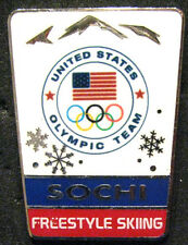SOCHI 2014 Olympic USA FREESTYLE SKIING NOC team delegation pin very rare