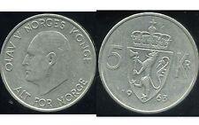 NORVEGE  5  kroner  1963