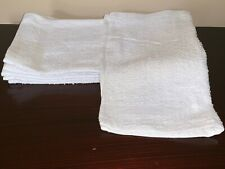 120 pack new white 12x12 100% cotton hotel gym cleaning washcloths wash cloths