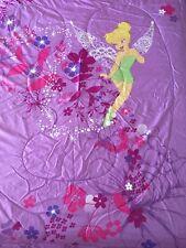 DISNEY TINKERBELL FULL SIZE BED REVERSIBLE COMFORTER GIRLS PURPLE PINK