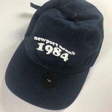 Newport Beach Strapback Hat Navy Blue Adult Large 1984 J Galt 1520 PCH Cap Cali