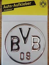 BVB Autoaufkleber Borussia Dortmund 3D Silber