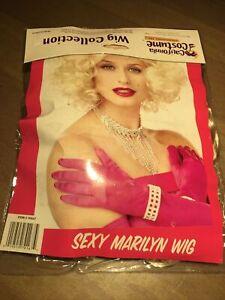 Brand New Marilyn Monroe Movie Star Halloween Costume Wig Blonde California Cost