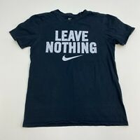 Nike T-Shirt Mens Small Black Leave Nothing Athletic Cut Short Sleeve Casual
