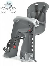 Polisport Bilby Junior Grau Silber Fahrrad Kindersitz Fahrradsitz für vorne Neu