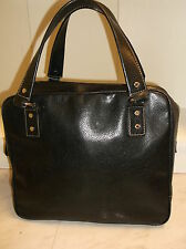 Kate Spade black leather large satchel bag
