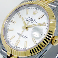 ROLEX 126333 DATEJUST 41 mm STEEL YELLOW GOLD JUBILEE WHITE STICK DIAL FLUTED