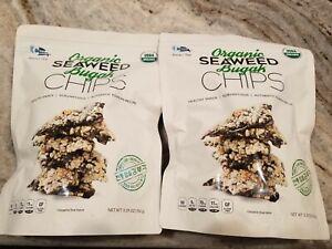 2 Packs Sea-Weed Snack Organic USDA Seaweed Bugak Chips 5.29 oz bad c-weed snack