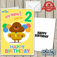 Hey Duggee Personalised Greeting Birthday Card Boy Son Girl Daughter CA034