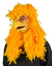 Super Chicken Yellow Moving Mouth Bird Animal Fancy Dress Halloween Latex Mask