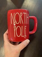 New Rae Dunn North Pole Mug Christmas Coffee Cup Red Ceramic NWT Holiday🎄