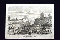 Taglio della via Monge a Parigi, in Francia Incisione del 1868