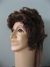 80s Brown Mullet Wig Joe Dirt Redneck Hillbilly Costume Accessory Child Size New