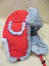 CrownCap Winnipeg Canada Rabbit Fur Hat Aviator Trapper Red Nathaniel Cole Large