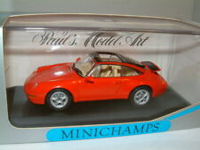 1/43 PORSCHE 911 TARGA 1995 IN RED , MINICHAMPS.