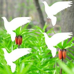 4 Sticker 10cm Pigeon White Bird Window Alert Birds Deterrent Bird