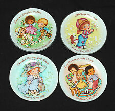 Avon Mini Mothers Days Porcelain Collector Four (4) Plates 1981 1982 1983 1984
