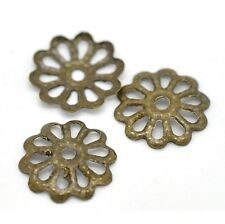 """50 Bronze FLOWER BEAD CAPS 5/16"""" (8mm) Findings (15827)"""