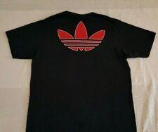 Adidas Chicago Bulls Black T-Shirt Size Mens L 100% Cotton Big Adidas Logo