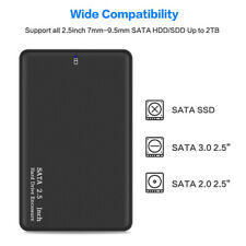2.5 Inch USB 3.0 External Case HDD Enclosure Hard Disk Drive Storage Devices
