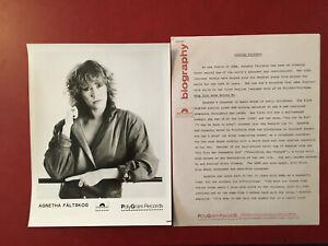 Agnetha Faltskog Wrap Your Arms promo Photo & Biography polygram polydor records