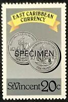 St. Vincent #1074b MNH Specimen CV$0.50 East Caribbean Currency Coins Perf 13...