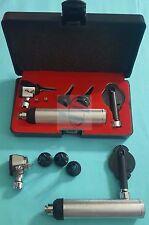 Professional Fiber Optic Otoscopeophthalmoscope Ent Diagnostic Set2 Extra Bulb