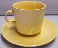Vintage Johnson Brothers Yellow Cup & Saucer c1958-60s Made in Australia Crazed